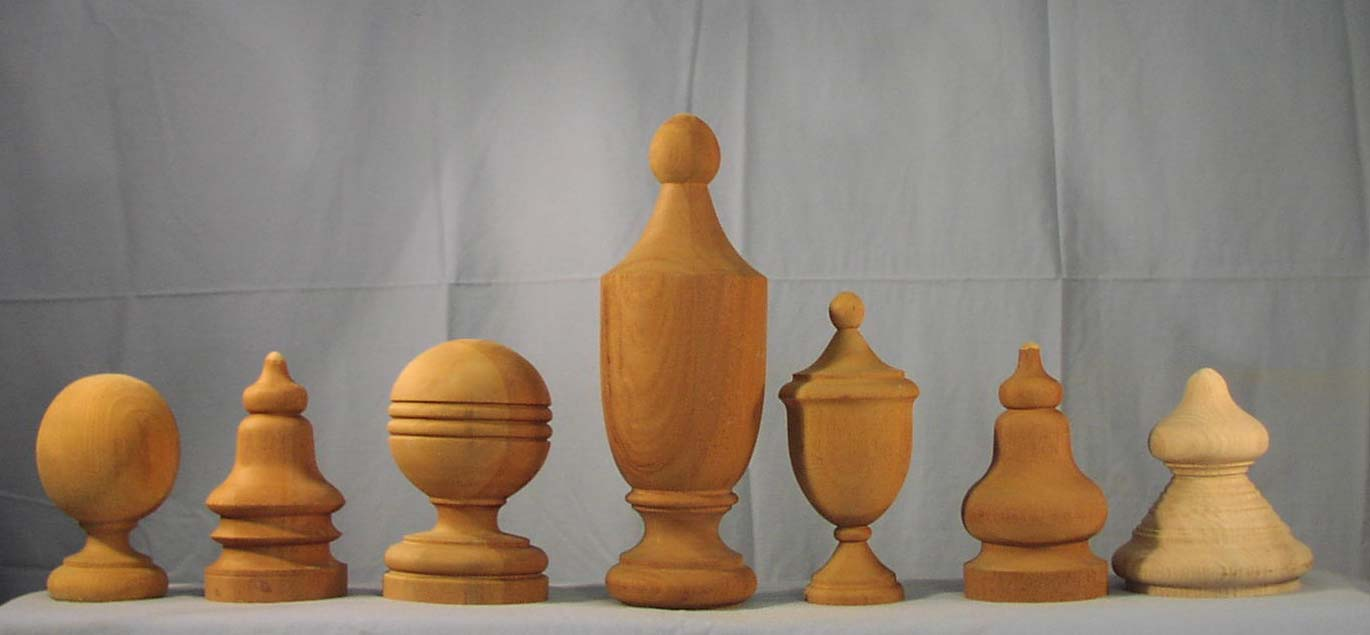 Wooden Hand Rails Finials And Caps The Woodworks Company